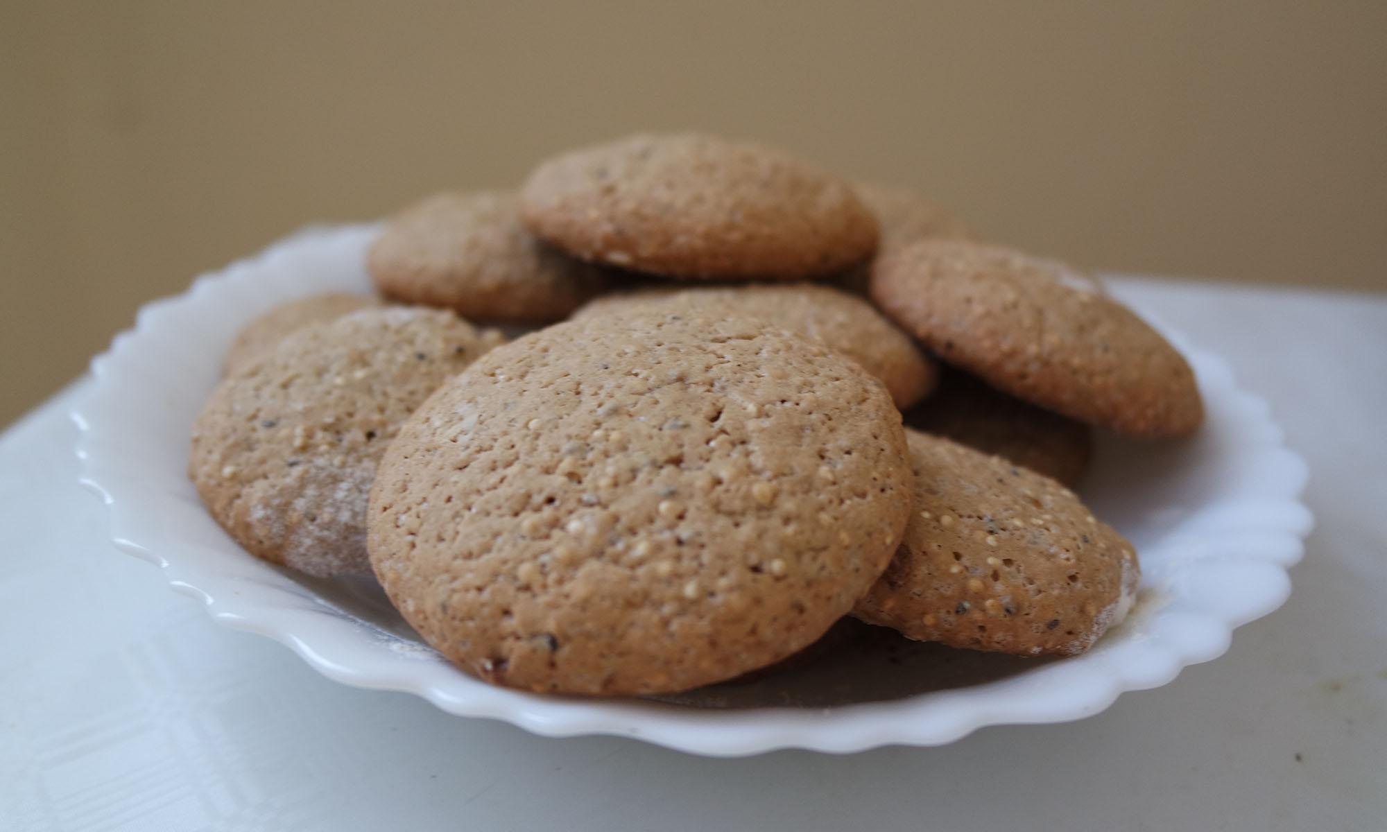 receita de cookies veganos sem glúten