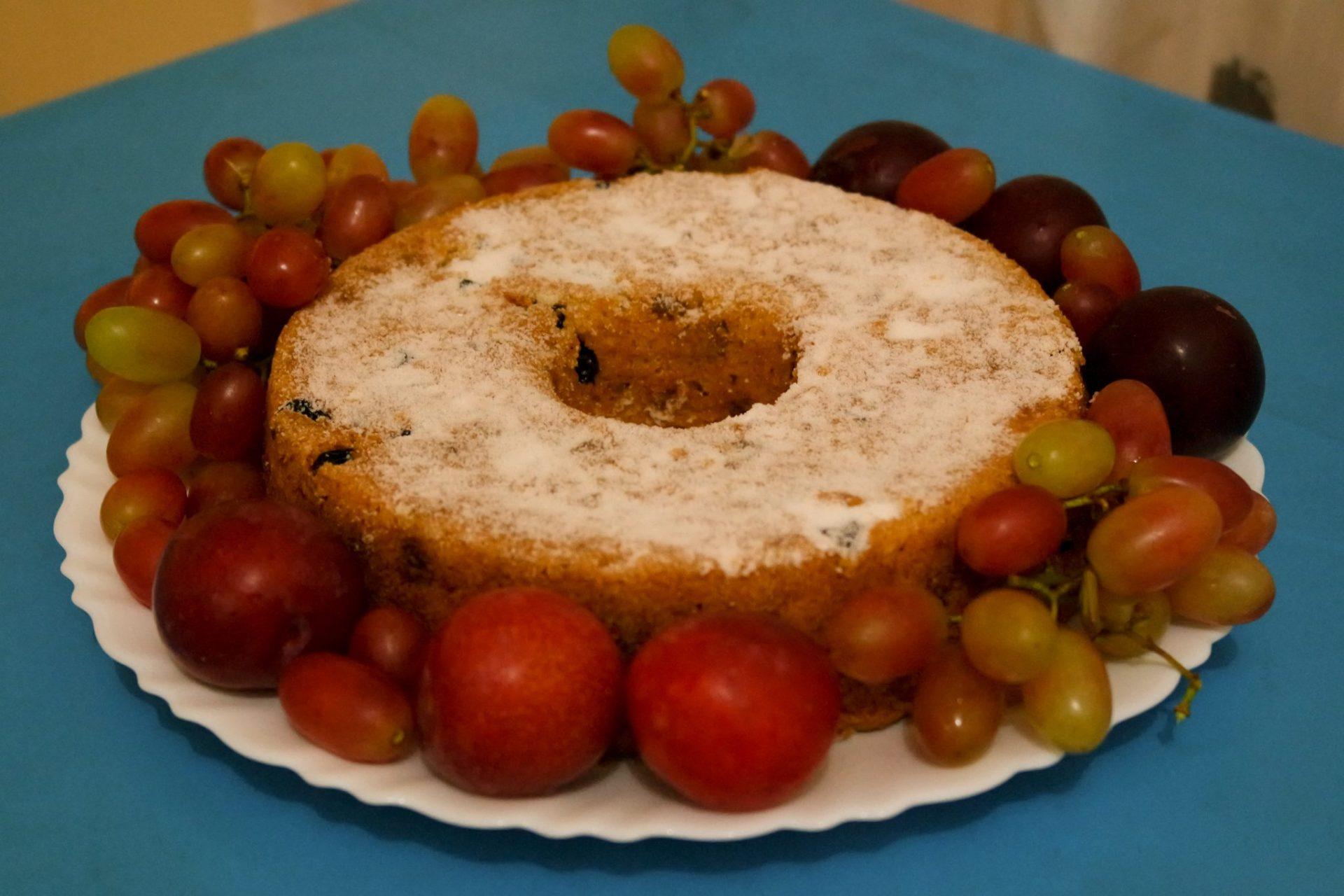bolo de frutas vegano de natal aloka do bicho